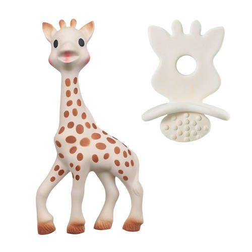 Bijtspeeltje + bijtrubber – Sophie la girafe
