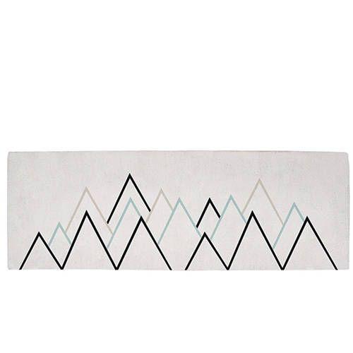 Tapijt driehoeken blauw – Lilipinso