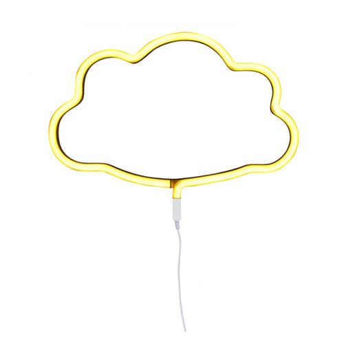 Neon stijl lamp wolk geel – A little lovely company