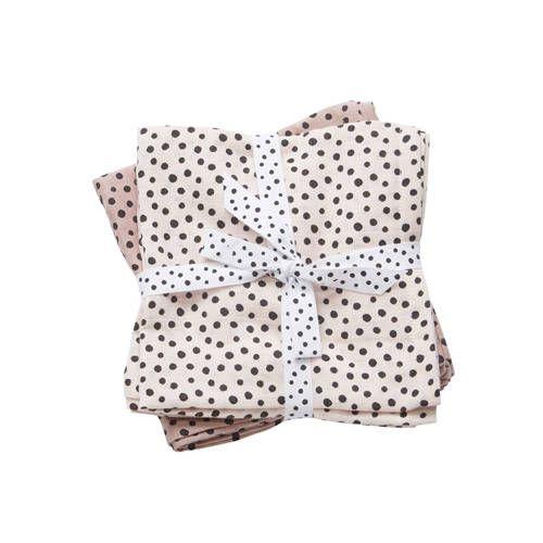 hydrofiele doeken klein happy dots roze – Done by deer