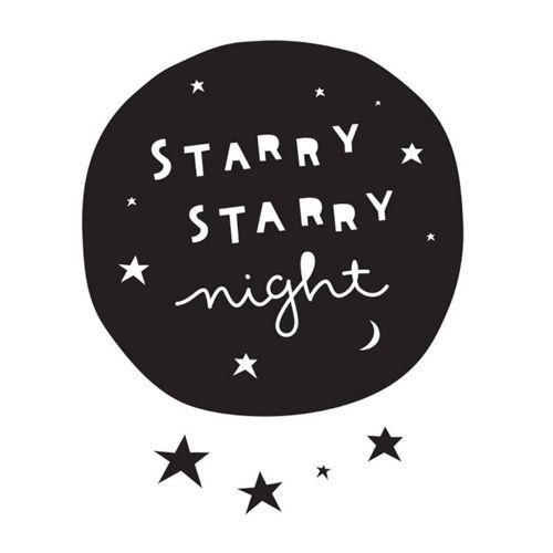Muursticker Starry night – A little lovely company