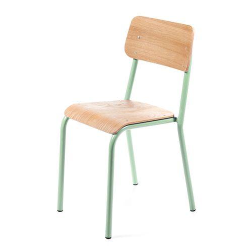Kinderstoel muntgroen – Declercq mobilier