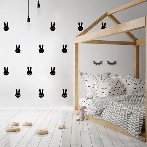 Muurstickers konijn zwart – Pöm