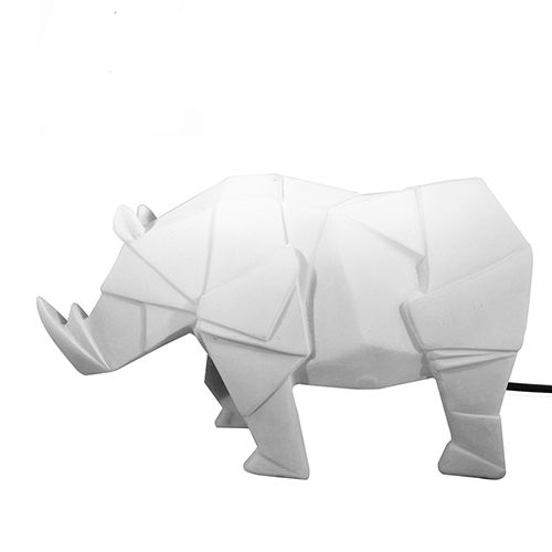 Rhino lamp wit – House of disaster