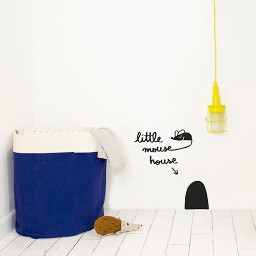 Muursticker Little mouse house – Chispum