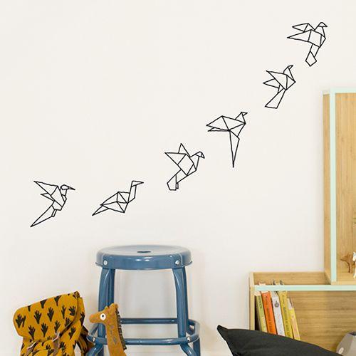 Muurstickers Origami birds – Chispum