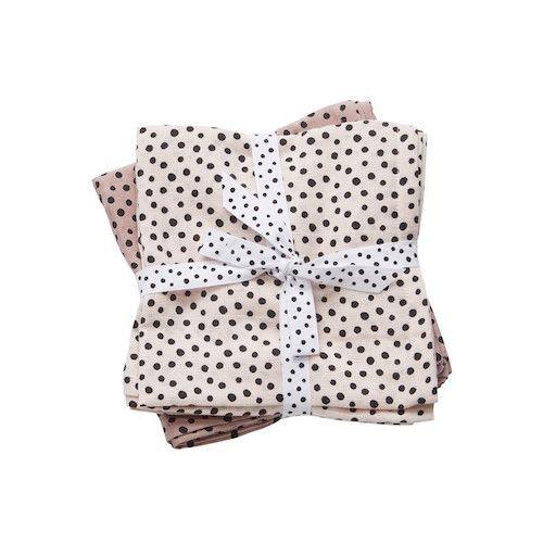 hydrofiele doeken groot happy dots roze – Done by deer
