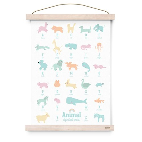 Poster Animal Alphabet pastel - Eef Lillemor