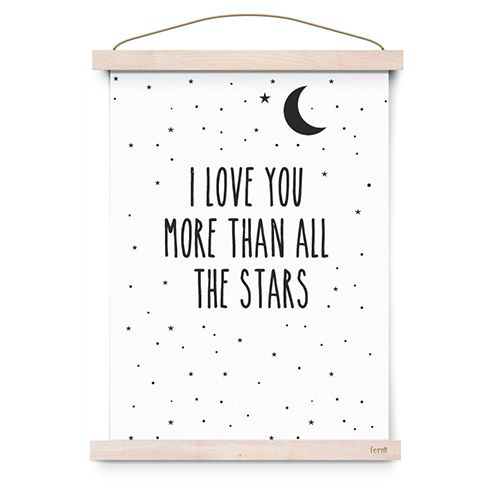 Poster I love you more than all the stars - Eef Lillemor