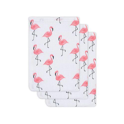 Hydrofiele washandjes flamingo - Jollein