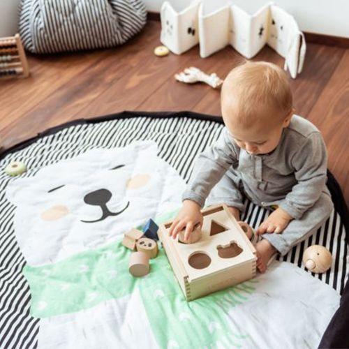Opbergzak/speeltapijt Soft Polar bear - Play&Go