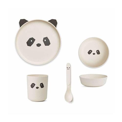Eetset Bamboo Panda Creme de la creme - Liewood
