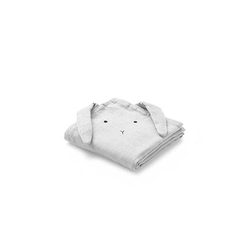 Hydrofiele handdoeken Hannah Konijn Dumbo grijs 2-pak - Liewood