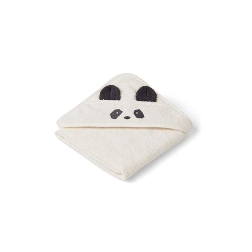 Baby badcape Albert Panda creme de la creme - Liewood