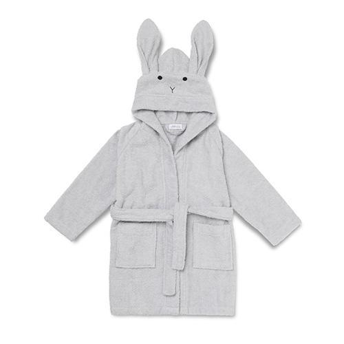 Badjas Lily Konijn Dumbo grijs 1-2 jaar - Liewood