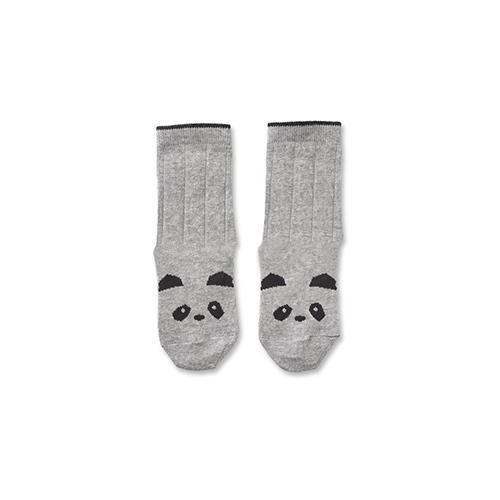 Kousen Silas Panda Grijs 0-6 maand - Liewood