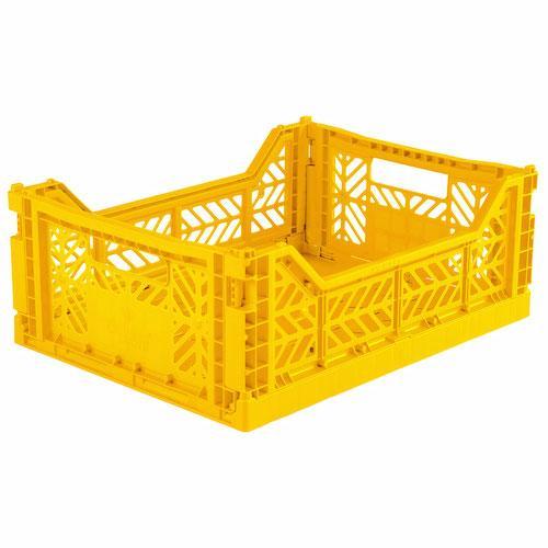 Plooibox midi yellow - Ay-kasa