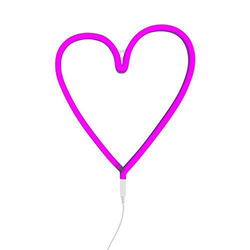 Neon stijl lamp hart roze - A little lovely company