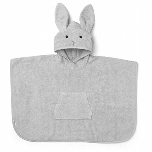 Poncho Orla Konijn Dumbo grijs 2-4 jaar - Liewood