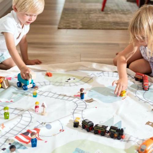 Opbergzak/speeltapijt treinspoor - Play&Go