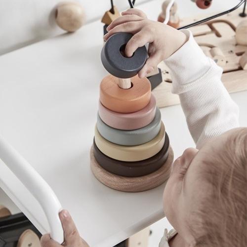 Houten stapelringen - Kid's Concept