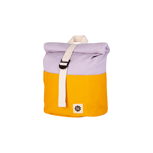 Rugzak roll top 7L yellow/light purple - Blafre