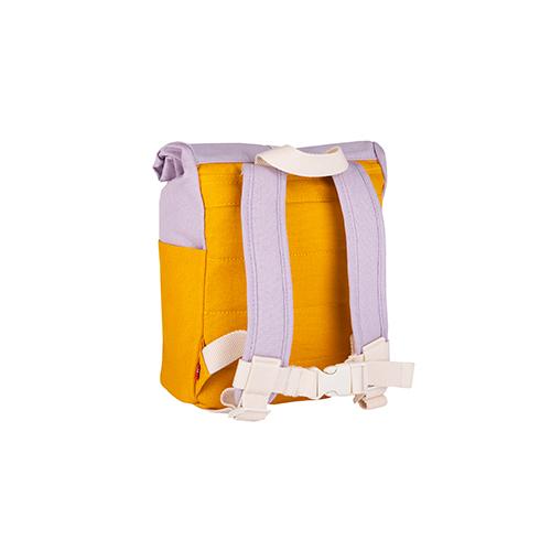 Rugzak roll top 7L yellow/light purple - Blafre