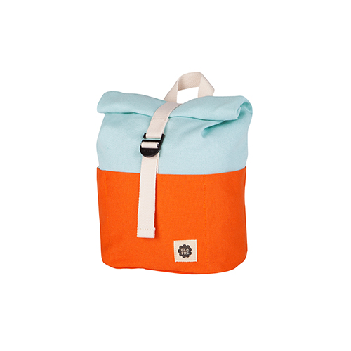 Rugzak roll top 7L orange/light blue - Blafre