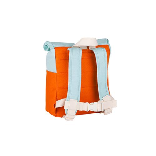 Rugzak roll top 7L orange/light blue - Blafre