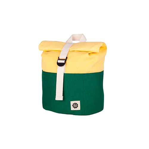 Rugzak roll top 7L dark green/yellow - Blafre