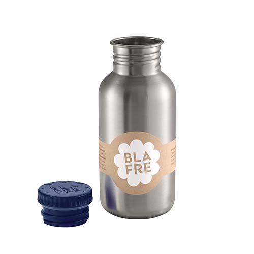 Drinkfles steel dark blue 500ml - Blafre