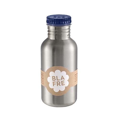 Drinkfles steel dark blue 500ml - Blafre
