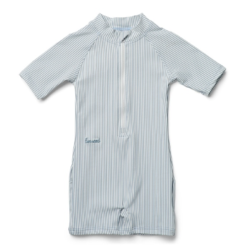 Zwemjumpsuit Max - Stripe Sea blue/white - Liewood