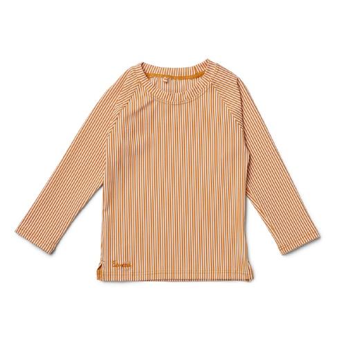 Zwemshirt Noah - Stripe Mustard/Creme de la creme - Liewood