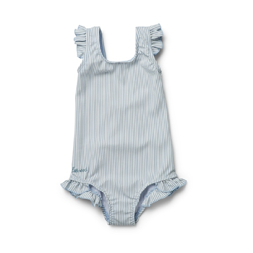 Badpak Tanna - Stripe Sea blue/white - Liewood