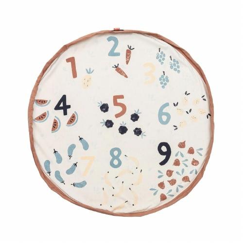 Opbergzak/speeltapijt Veggie numbers - Play&Go