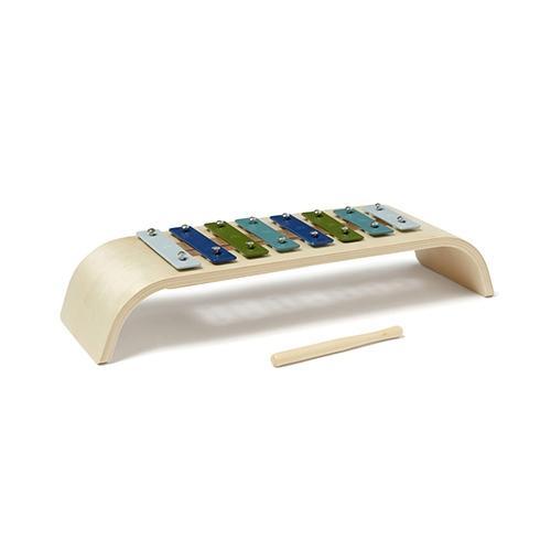 Houten xylofoon Blauw - Kid's Concept