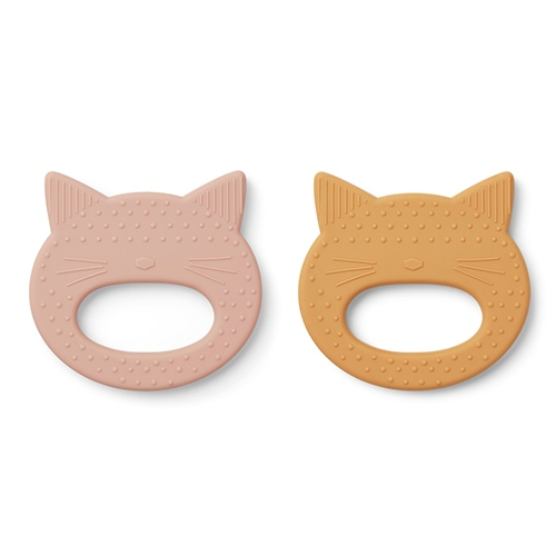 Bijtringen Geo - Cat Rose/yellow mellow (set van 2) - Liewood