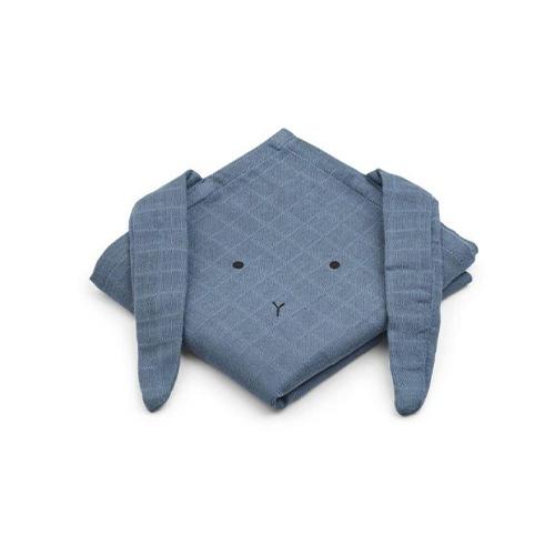 Hydrofiele handdoeken Hannah Konijn blue wave 2-pak - Liewood