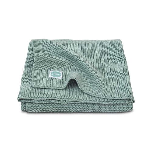 Deken 100x150cm Basic knit forest green - Jollein