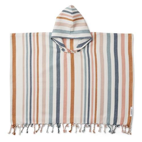 Poncho Roomie Stripe Multi 4-6 jaar - Liewood
