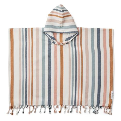 Poncho Roomie Stripe Multi 2-4 jaar - Liewood