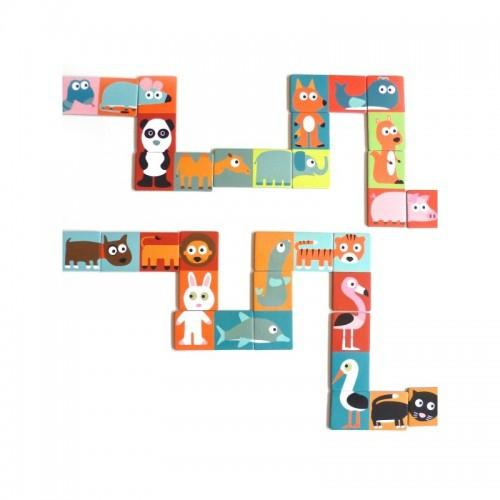 Domino puzzel dieren - Djeco