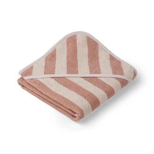 Poncho baby Alba Stripe Rose/Sandy - Liewood