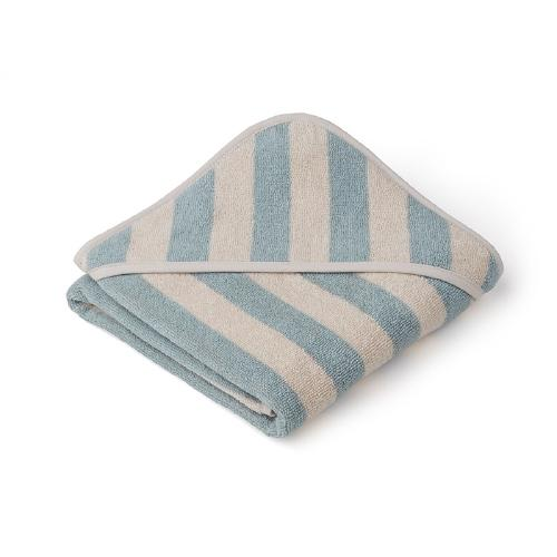 Poncho baby Alba Stripe Sea Blue/Sandy - Liewood