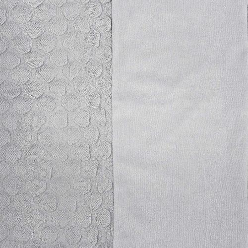 Waskussenhoes 50x70cm Fancy knit soft grey - Jollein
