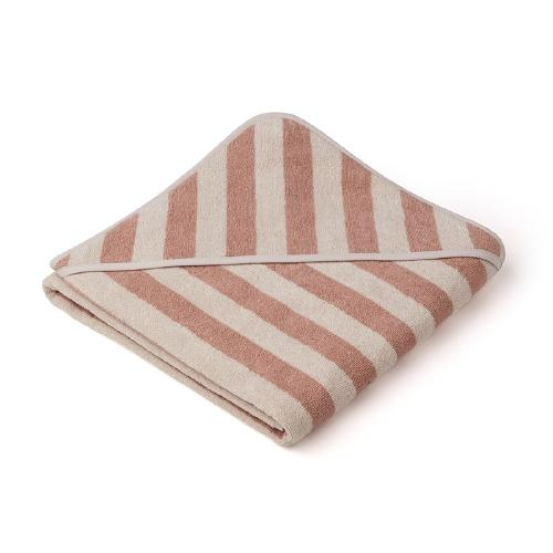 Poncho Louie Stripe Rose/Sandy - Liewood