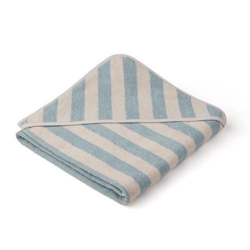 Poncho Louie Stripe Sea blue /Sandy - Liewood