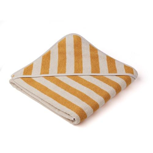 Poncho Louie Stripe Yellow mellow/Sandy - Liewood