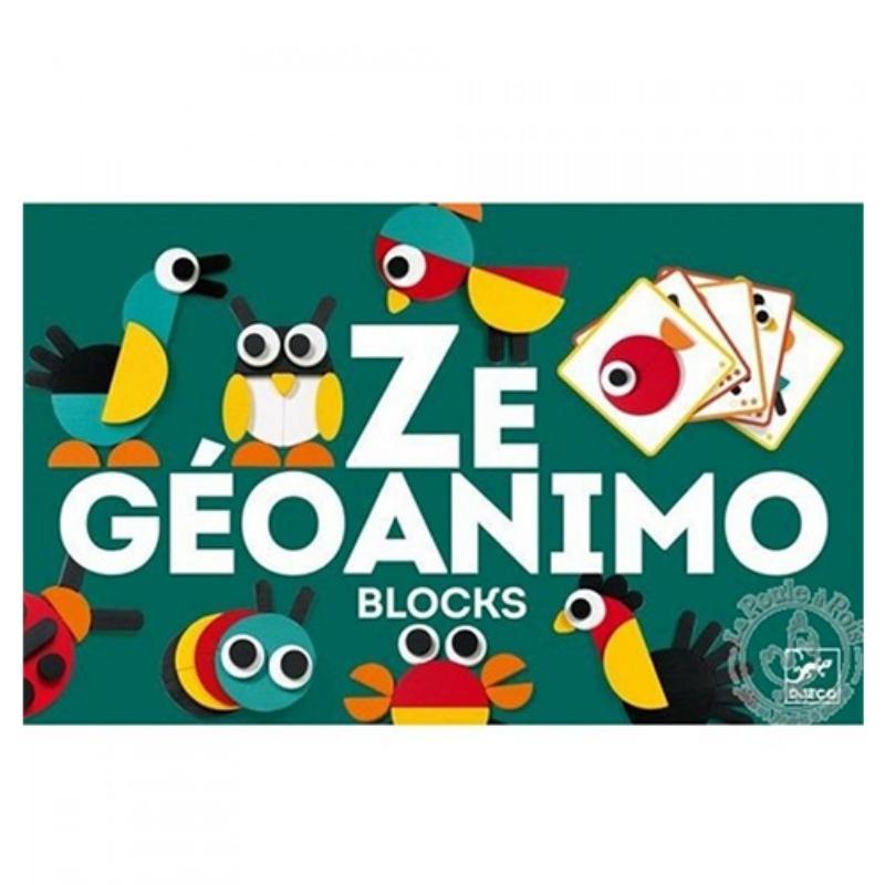 Houten blokpuzzel Ze Géoanimo - Djeco